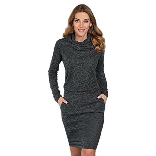 FAPIZI ♥ Women Dress ♥ Womens Ladies Fashion Package Hip Slim Mini Pencil Business Cocktail Dress (M, Black)