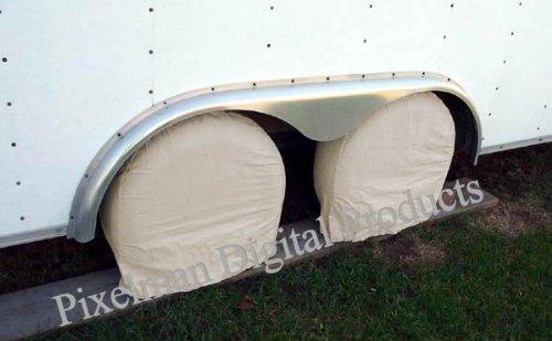 4 Storage Tire Wheel Covers Camper Car Auto Trailer Truck RV 31 32 33″ diameter image