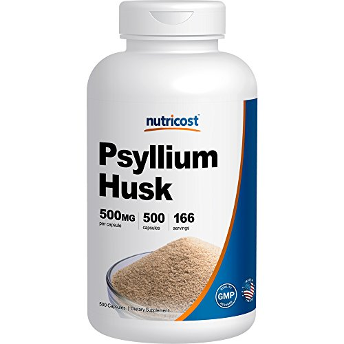 Nutricost Psyllium Husk 500mg; 500 Capsules (Now Psyllium Husk Caps compare prices)