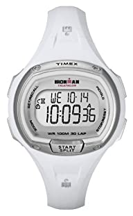 Timex Women's T5K183 Ironman Traditional 30-Lap White Resin Strap Watch