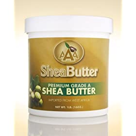 100% Unrefined Certified Grade A Shea Butter 16 oz.