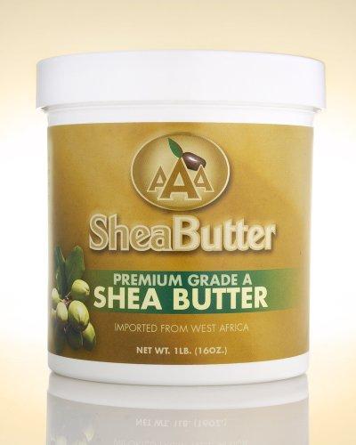AAA Shea Butter Premium Grade A Unrefined Shea Butter, Net WT. 1LB (16oz)