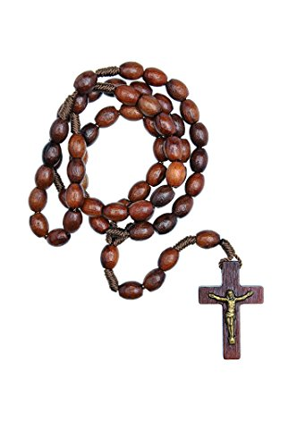 First Wood Rosary - Made in Brazil (Walnut - 6/8mm Beads (Wood Rosary Beads compare prices)