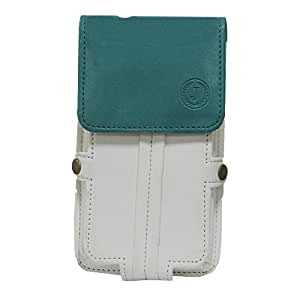 Jo Jo A6 Nillofer Series Leather Pouch Holster Case For Elephone Trunk White Light Blue