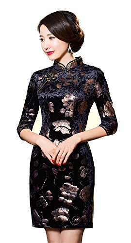Angcoco Womens Evening Party Vintage Chinese Traditional Cheongsam Dress