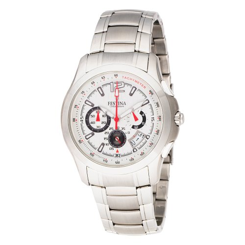 Festina Men's F16291/1 Travelers Chrono Stainless Steel Textured Dial Watch