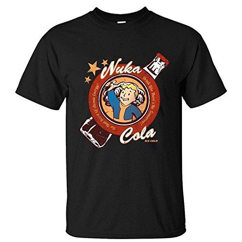 Jiuhe Men's Cartoon Fallout Drink Nuka Cola Short Sleeve Cotton T Shirt