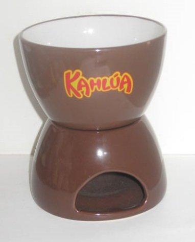 Kahlua Liqueur / Candle Tea Light Warmer 2 Pc Ceramic Set