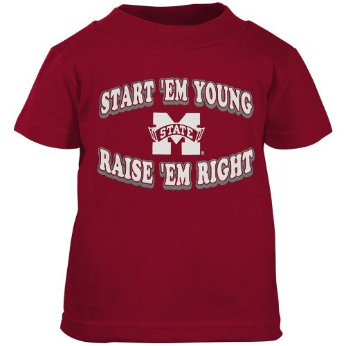 Mississippi State Bulldogs Maroon Infant Start 'Em Young T-shirt