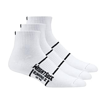Buy WrightSock Double Layer Running II Qtr 3pk Sock by Wrightsock