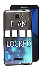 ECellStreet Exclusive Printed Soft Back Case Cover Back Cover For Panasonic Eluga S - I Am Locked
