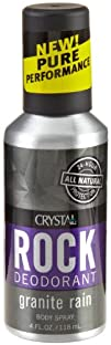 Crystal Deodorant Spray Granit Rain  4 Oz