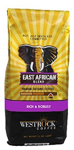 Westrock Coffee Company East African Blend Best Medium-Dark Roast Gourmet Ground Coffee, 12 oz. Bag (Counting Sheep Coffee Keurig compare prices)