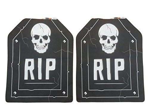Halloween Skull 'RIP' Kitchen Chair Cover Set of 2