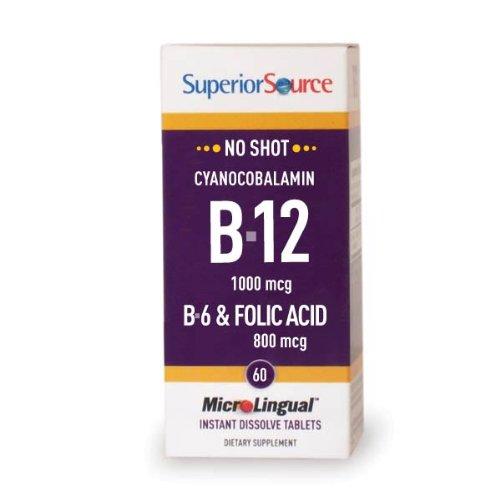 Superior Source Vitamin B12 As Cyan./B6/Folic Acid (60 Tablets)