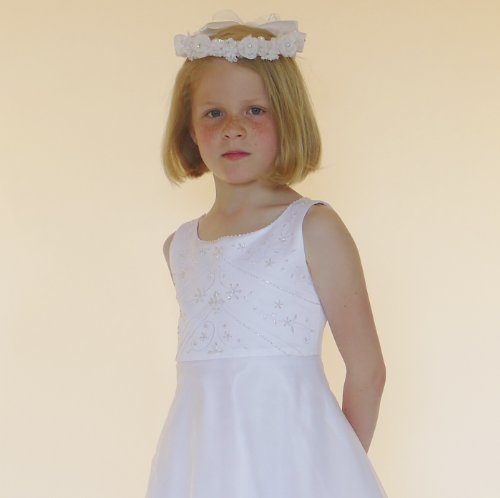 Julia first Holy Communion dress in white age 8 yrs