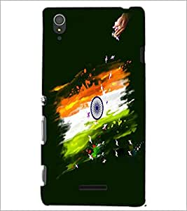 PRINTSWAG INDIAN FLAG Designer Back Cover Case for SONY XPERIA T3