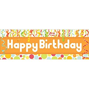 "Chic Birthday Giant Banner 60"" x 20"" by Creative Converting"