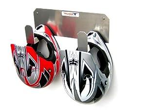 Aluminum Dual Helmet Rack by Pit Posse