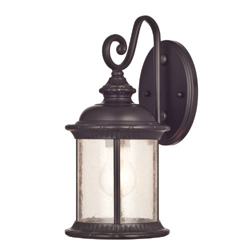 Westinghouse 6230600New Haven One-Light Exterior Wall Lanternon Steel with Clear Seeded Glass,Oil Rubbed Bronze Finish 0
