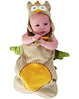 """Baby Aspen """"My Little Night Owl"""" Snuggle Sack and Cap, 0-6 months"""