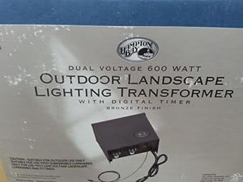 Hampton Bay Landscape Electronic W Digital Timer Transformer 600 Watts Dual Voltage Amazon Com