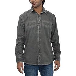 Inego Men's Casual Shirt (Slate )