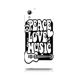 Ebby Peace Love Music Premium Printed Case For HTC Desire 826