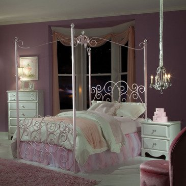 Twin Canopy Bed Frame 7524 front