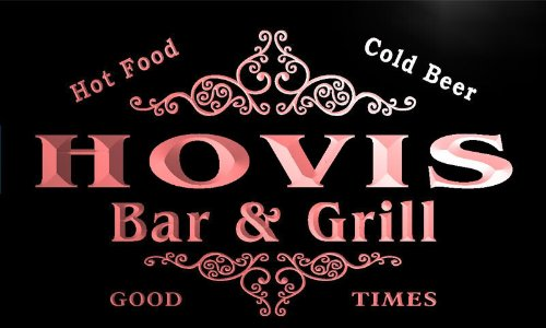 u20992-r-hovis-family-name-bar-grill-home-beer-food-neon-sign-barlicht-neonlicht-lichtwerbung