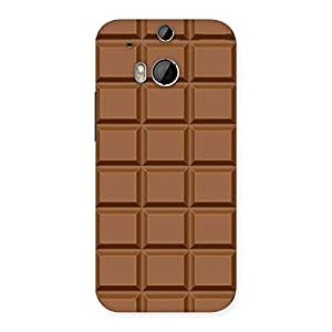 Impressive Classic Chocolate Back Case Cover for HTC One M8