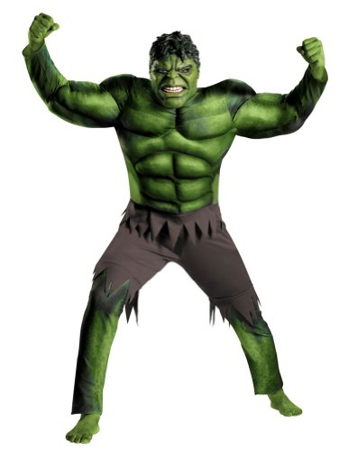 Adult-Costume Hulk Avengers Classic Muscle Adult Costume 42-46 Halloween