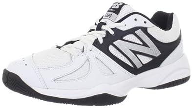 New Balance Men's MC696 Lightweight Tennis Shoe,White/Silver,7 D US