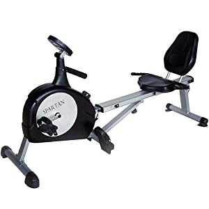 Buy Spartan Sports 2 in 1 Recumbent Bike & Rower! by Spartan