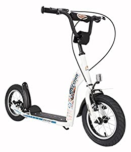 bike*star 30.5cm (12 pouces) Prime Trottinette Patinette Enfants - Couleur Blanc