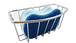 Deluxe Chrome-plated Steel Large Suction Cups Kitchen Sink Sponge Storage Organizer Holder by Hopeful Long-Lived