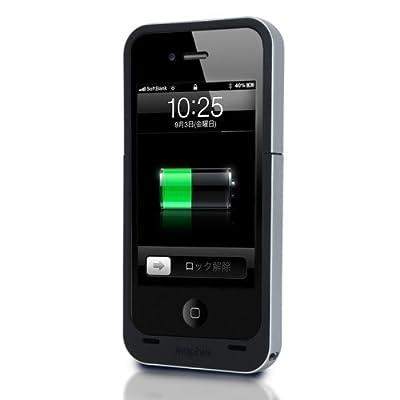 【日本正規代理店品】mophie juice pack air for iPhone 4S/4 ブラック MOP-PH-000007