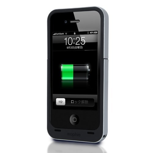 日本正規代理店品mophie juice pack air for iPhone 4S/4 ブラック MOP-PH-000007