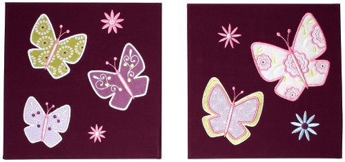 Kimberly Grant Bohemian Butterfly 2 Piece Canvas Art (Discontinued by Manufacturer)