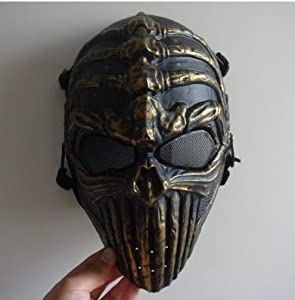 Halloween Horror Halloween dance devil mask headgear Men Skeleton Ghost Rider protective helmet cos,Bronze from Hot Sale Everything