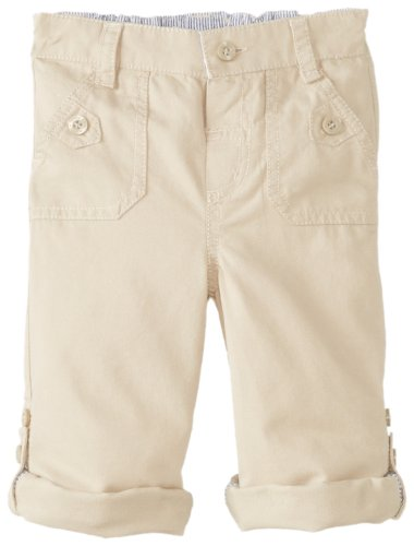 Jojo Maman Bebe Baby-Boys Infant Twilln-Up Trousers, Stone, 12-18 Months front-920416
