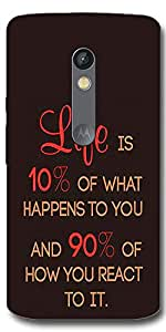 DigiPrints High Quality Printed Designer Hard Case Cover For Moto X Play