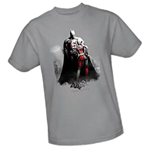 Harley and Bats -- Batman Arkham City Adult T-Shirt, Large