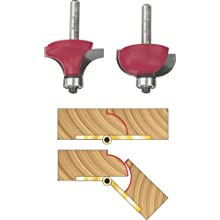Freud 33-106 Drop Leaf Table 1/2-Inch Raduis Router Bit Set with 1/4-Inch Shank