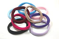 10 Pc Soft 2 Inch Assorted Colors Scrunchie Hair Ties Sgee237