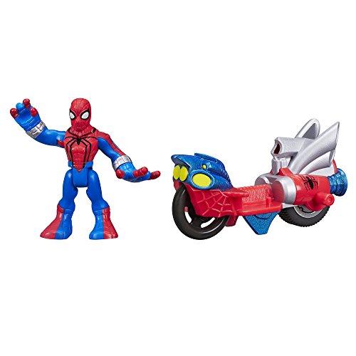 Playskool Heroes Marvel Super Hero Adventures Spider-Man Figure with Web Racer Vehicle - 1