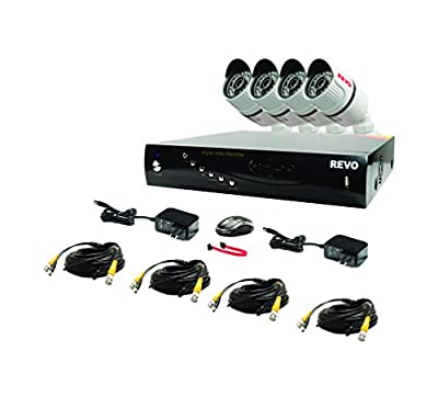 Revo RT161B12GM24-2T T-HD 16-CH 2TB DVR Surveillance System with 12 T-HD 1080p Bullet Cameras (White)