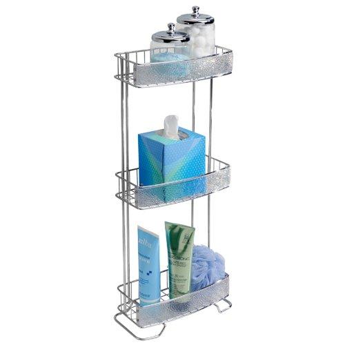 InterDesign Rain 3-Tier Shelf, Clear/Chrome