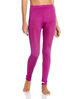 Terramar Women's Thermasilk Pointelle Pant (Jazzberry, Small)