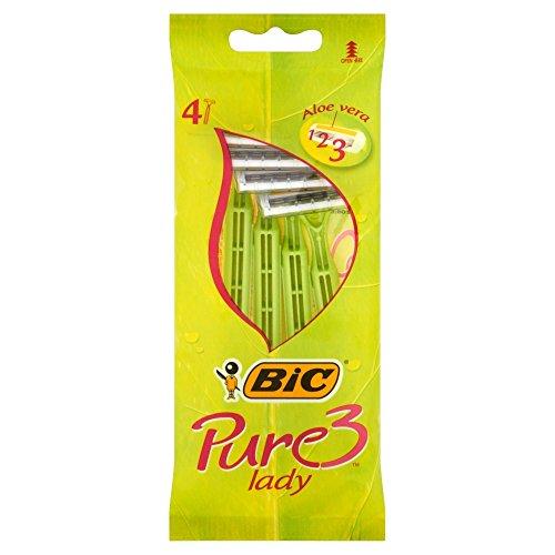 BIC - Rasoio Lady Pure3, 4 Pezzi (2 Confezioni)